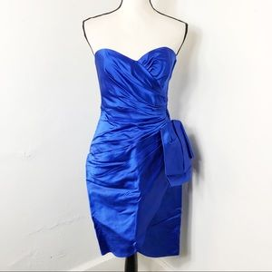 Victor Costa for Saks Fifth Silk Strapless Dress 6